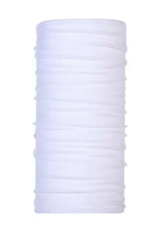 30 Pack Blank White Sublimation Blank Neck Gaiter - Seamless 100% Polyester