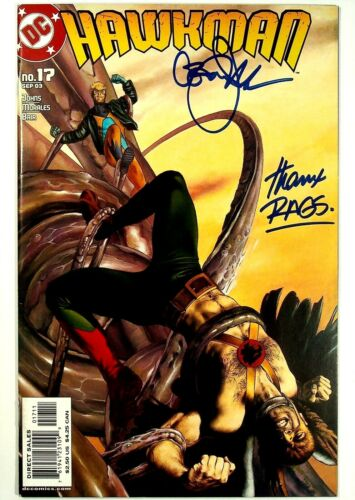 Hawkman #17 Signed by Geoff Johns & Rags Morales DC Comics