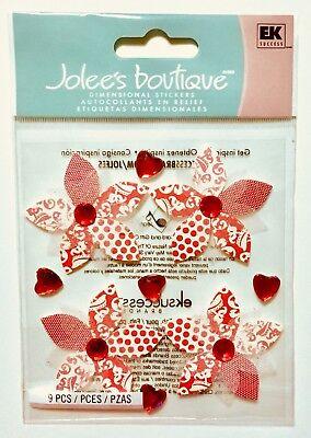 (Jolee's Red Gem Flowers Dimensional Scrapbook Sticker Embellishments)