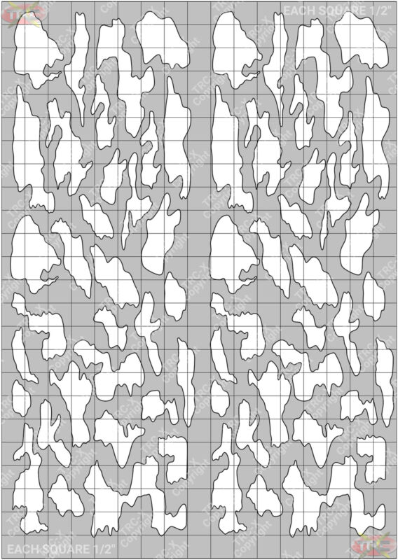 TRC8668W Large Camouflage Hobby Water Painting Stencil Craft Airbrush Mask