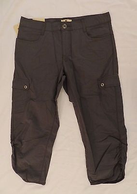 NWT Woolrich Capris Ladies Womens Hiking Camping Slate Gray Size 14 RUNS LARGE