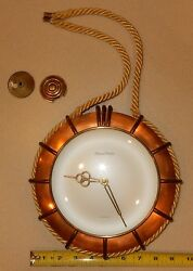 Phinney Walker Wall Hanging Rope Clock Copper Nautical Theme