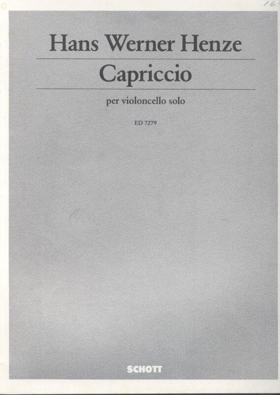 Schott/Schiff: Hans Werner Henze Capriccio for Solo Cello