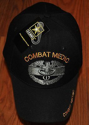 New Black Combat Medic US Army Hat Ball Cap Veteran Military