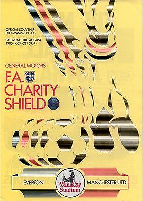 EVERTON v MANCHESTER UNITED CHARITY SHIELD FINAL 1985