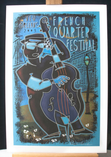 """French Quarter Poster, 14 X 20.5""""  Official Festival Poster, Signed"""