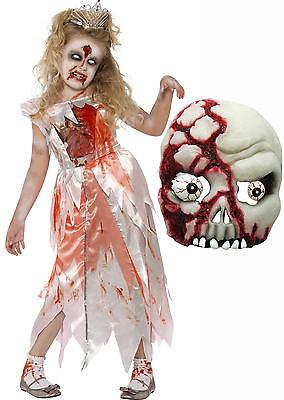 Sleeping Corpse Zombie Monster Princess Girl Halloween Fancy Dress Costume+ MASK](Girl Zombie Mask)