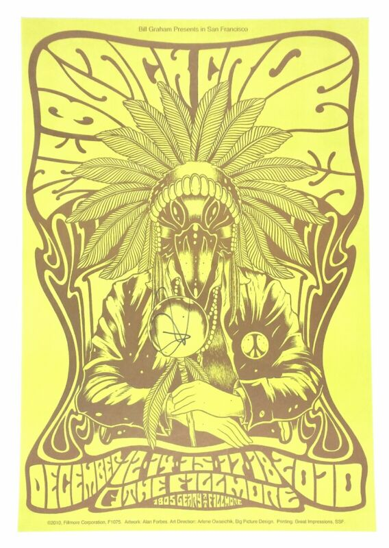 The Black Crowes SF Fillmore poster signed by Rich Robinson