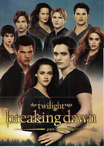 Twilight Breaking Dawn Part 2 Complete 72 Card Set