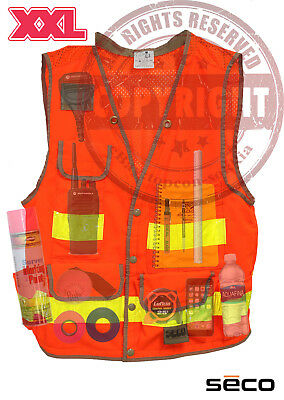 Seco 8069-58 Xxl Surveyors Safety Vest Class 2surveyingtopconsokkiatrimble