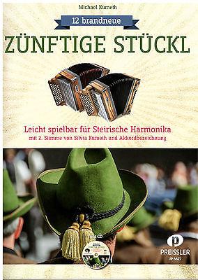 Steirische Harmonika Noten : Zünftige Stückl m. CD  - GRIFFSCHRIFT (m 2. Stimme)