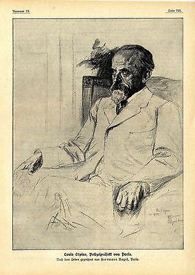 Louis Lépine Polizeipräfekt von Paris Historische Memorabilie Herrmann Vogel1912