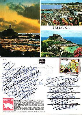 1990's MULTI VIEWS OF JERSEY CHANNEL ISLANDS COLOUR POSTCARD