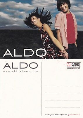 ALDO SHOES UNUSED ADVERTISING COLOUR  POSTCARD (f)