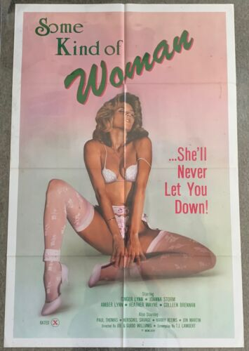 1985 adult movie poster ~ SOME KIND OF WOMAN Ginger Lynn ~ 27x41