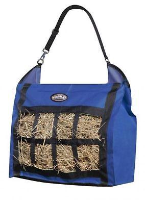 Showman ROYAL BLUE Slow Feed Heavy Duty Nylon Hay Bag Tote! NEW HORSE TACK!