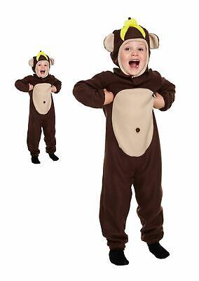 Jungen / Mädchen Affe Kostüm Tier Dschungel Affe Mädchen Kinder Zoo (Dschungel Tier Kostüm Kinder)