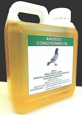 Aniseed Trapping Oil 1000ml Racing Pigeon Poultry Game Bird Attractant Feed.