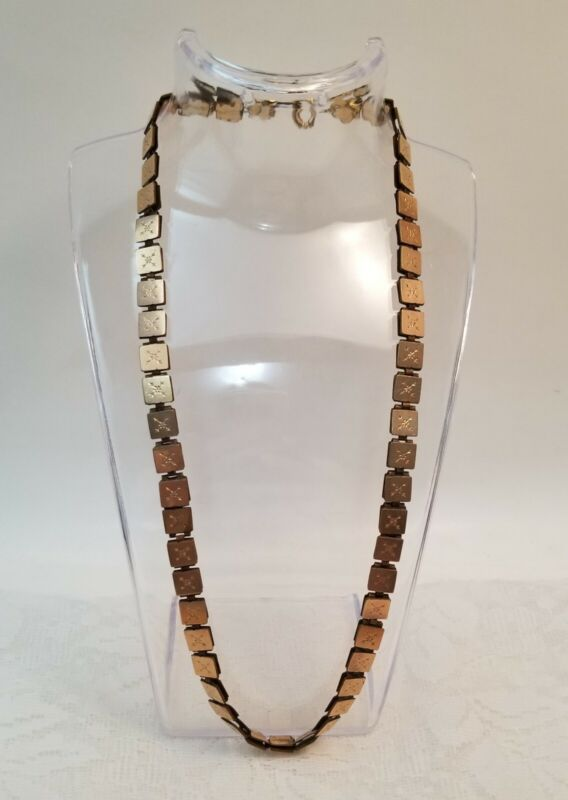 """Antique Victorian Link Double Sided Gold Filled Book Chain 20"""" Necklace Jewelry"""