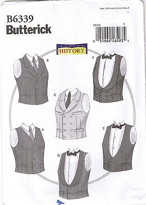 Men Historic Victorian Vest Waistcoat Cosplay Costume Sewing Pattern XL XXL XXXL for sale  Shipping to India
