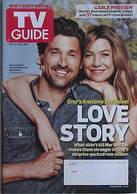 Patrick Dempsey Ellen Pompeo Greys Anatomy Sept  2010 Tv Guide Magazine