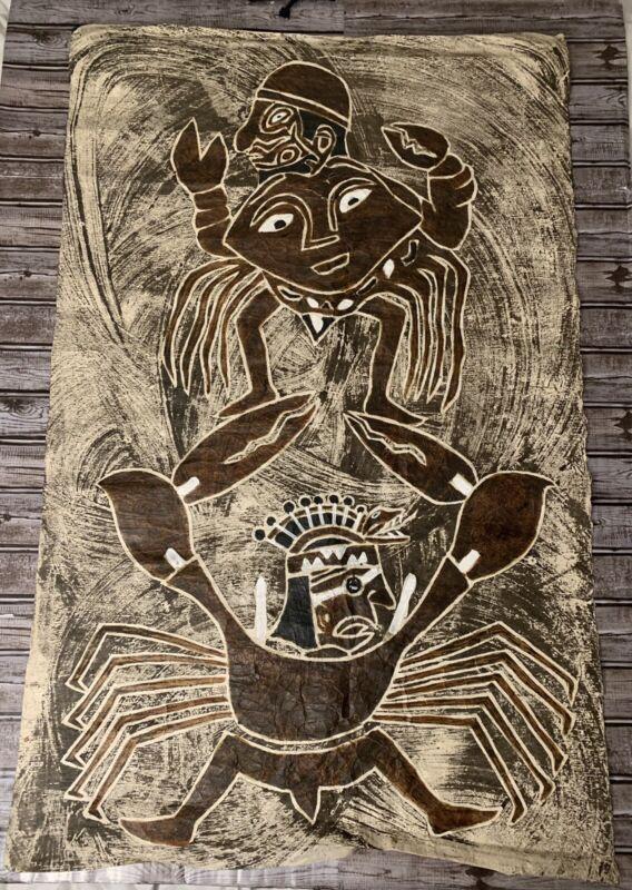 1950s Aboriginal Bark Painting - Beautiful!!