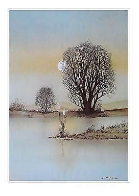 Jana Powkie Romantic River Poster Kunstdruck Bild 99x68cm