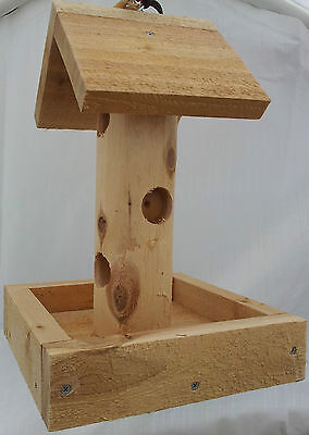 Suet Log W/Tray Bird Feeder