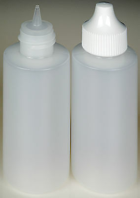 Plastic Dropper Bottles, Precise Tipped w/White Cap, 2-oz. 12-Pack, New