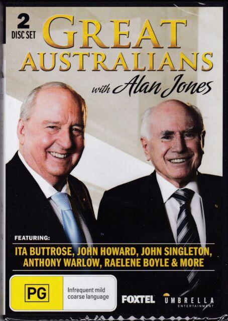 GREAT AUSTRALIANS WITH ALAN JONES  - 2 DISC SET