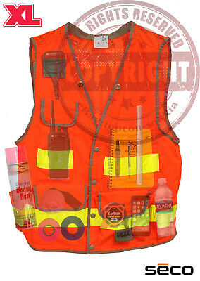 Seco 8069-54 Xl Surveyors Safety Vest Class 2surveyingtopconsokkiatrimble