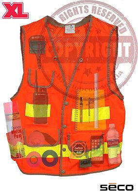 Seco 8069-54 Xl Surveyors Safety Vest Class 2surveyingtopconsokkiatrimble