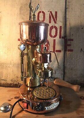 Elektra Semiautomatica Micro Casa Espresso Cappuccino Machine Copper Brass Sx