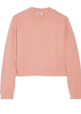 ACNE STUDIOS 'Bird' Fleece Sweatshirt Windcheater Sweater Dusty Pink Size M