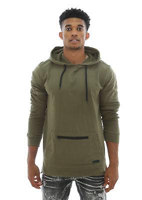 WT02 Men's Layered Long Sleeve Hooded T Shirt W/ Thermal (Layered Long Sleeve Hooded T-shirt)