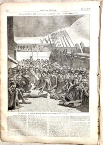E 2 Harpers Weekly 6-2-1860 Slave Ship
