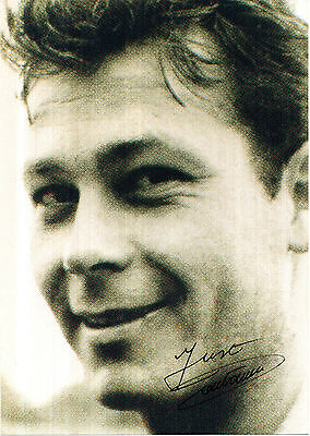 JUST FONTAINE FRENCH WORLD CUP LEGEND HAND SIGNED PHOTOGRAPH 7 x 5
