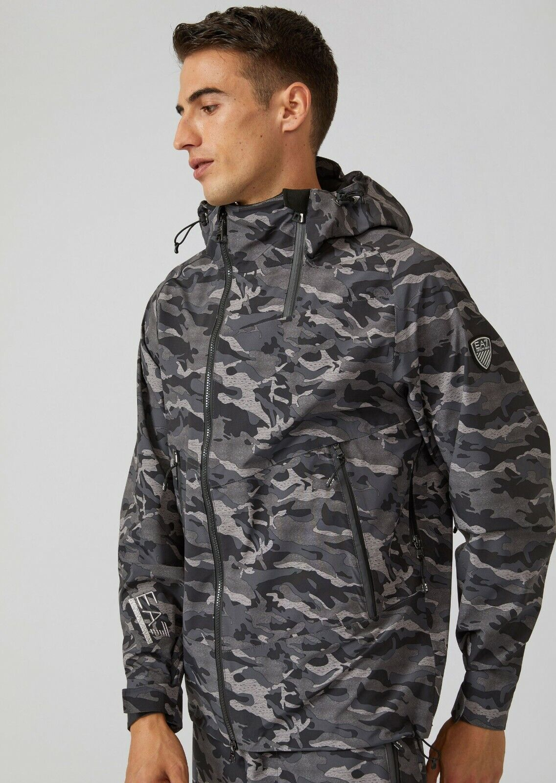 Emporio Armani EA7 Technical Ski Jacket Coat Size S Camouflage NICE! Clothing, Shoes & Accessories