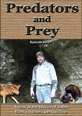 PREDATOR AND PREY CHRISTIAN EASTERN COYOTE WILD TURKEY HUNTING TACTICS VIDEO DVD for sale  Shipping to Canada