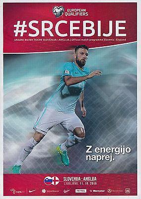 SLOVENIA v England (World Cup 2018 Qualifier) 2016 - Stadium edition programme