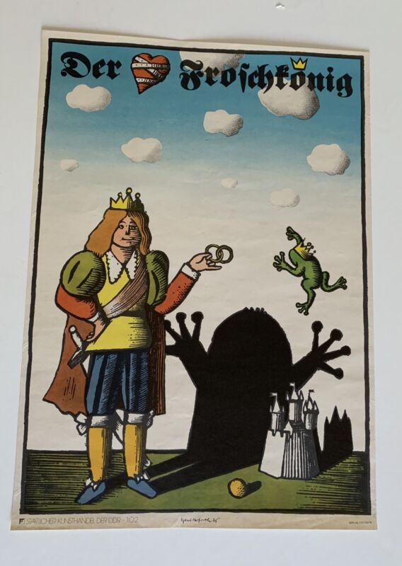 FROG KING Poster 1975, Egbert Herfurth, DDR, East Germany Excellent. Buy It Now,