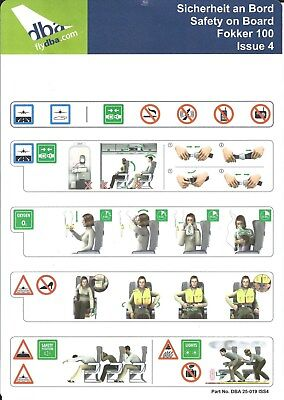 Safety Card - dba - F100 - Issue 4 (S3877) for sale  Canada