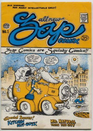 Zap Comix 1 Apex Novelties 1967 VG FN 3rd Print Robert Crumb Underground