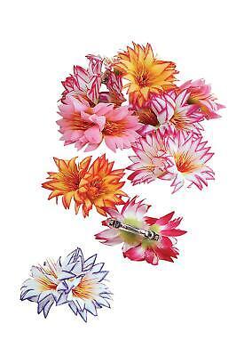 Ladies Flower Hair Clips Hawaiian Fancy Dress - Flower Fancy Dress Kostüm