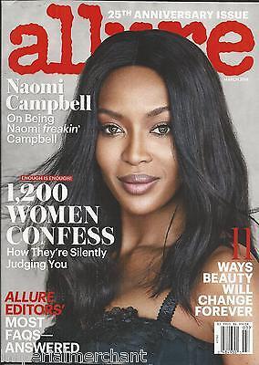 Allure magazine Naomi Campbell Women confessions Bella Hadid Anniversary issue .