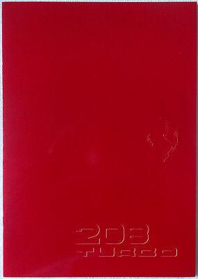 1982 Ferrari 208 GTB GTS Underived Sales Brochure Catalog w/Spec Sheet