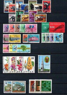 Belgisch Congo Belge - Rep. Congo Kinshasa Collection Used sets (5) c14.95Eu.