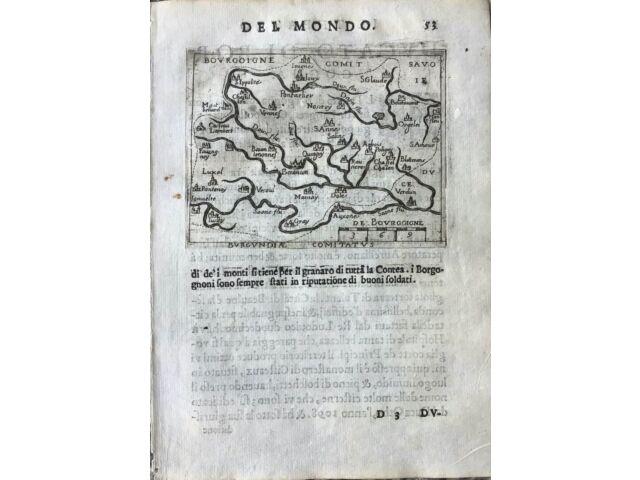 """""""BOURGOIGNE COMITATUS"""", Abraham Ortelius, ca.1667."""