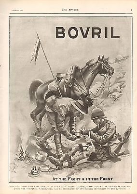 1900 ANTIQUE PRINT- BOER WAR-ADVERT-BOVRIL,AT THE FRONT & IN THE FRONT