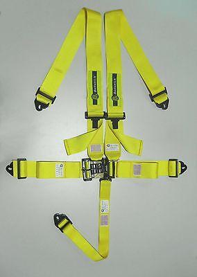 Beltenick 5-Punkt Gurt Hosenträgergurt mit Nascar Bügelverschluß gelb